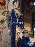 Glossy 1208 Georgette Embroidery Blue Suit Online