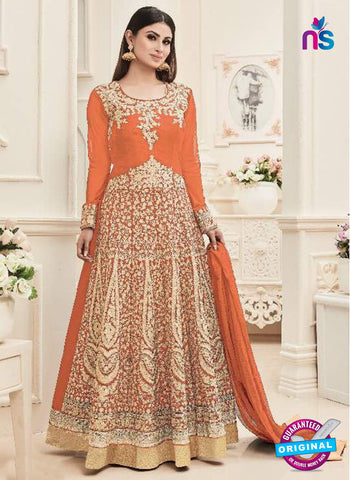 Sashi 12084 Orange Anarkali Suit