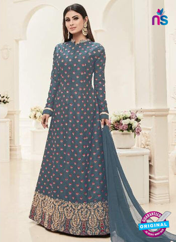 Sashi 12086 Grey Anarkali Suit