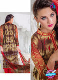 SC 14016 Red and Brown Exclusive Fancy Functional Wear Straight Plazo Suit Online