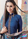 SC 13267 Blue Embroidered Georgette Party Wear Designer Suit
