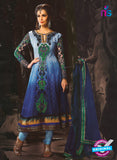 NS10068 Blue and Navy Blue Anarkali Suit