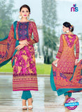 SC 14017 Pink and Sky Blue Exclusive Fancy Functional Wear Straight Plazo Suit