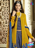 SC 13315 Yellow and Blue Faux Georgette Designer Suit