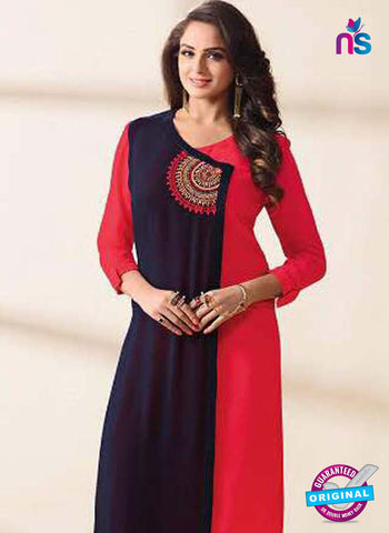LT 1209 Blue and Red Indo Western Tunic
