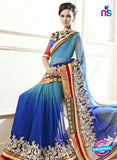 AZ 2148 Sky Blue Georgette Fancy Party Wear Saree Online