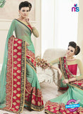 AZ 2150 Sea Green Georgette Fancy Party Wear Saree