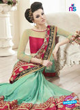 AZ 2150 Sea Green Georgette Fancy Party Wear Saree Online