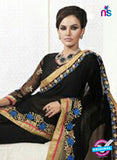 AZ 2151 Black Georgette Fancy Party Wear Saree online