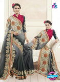 AZ 2152 Grey Georgette Fancy Party Wear Saree
