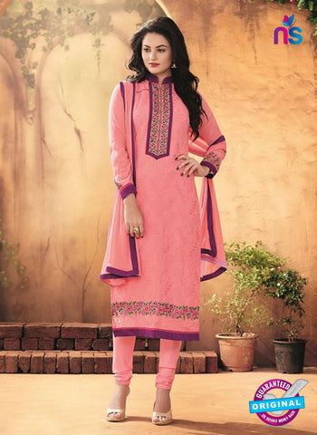 SC 12318 Pink and Party Wear Faux Georgette Straight Suit