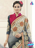 AZ 2152 Grey Georgette Fancy Party Wear Saree online