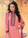 NS10190 Pink Party Wear faux Georgette Straight Suit Online
