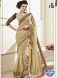 AZ 2154  Brown Georgette Fancy Party Wear Saree