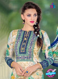 SC 14018 Beige and Blue Exclusive Fancy Functional Wear Straight Plazo Suit