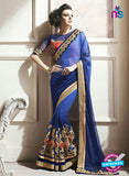 AZ 2156 Royal Blue Georgette Fancy Party Wear Saree