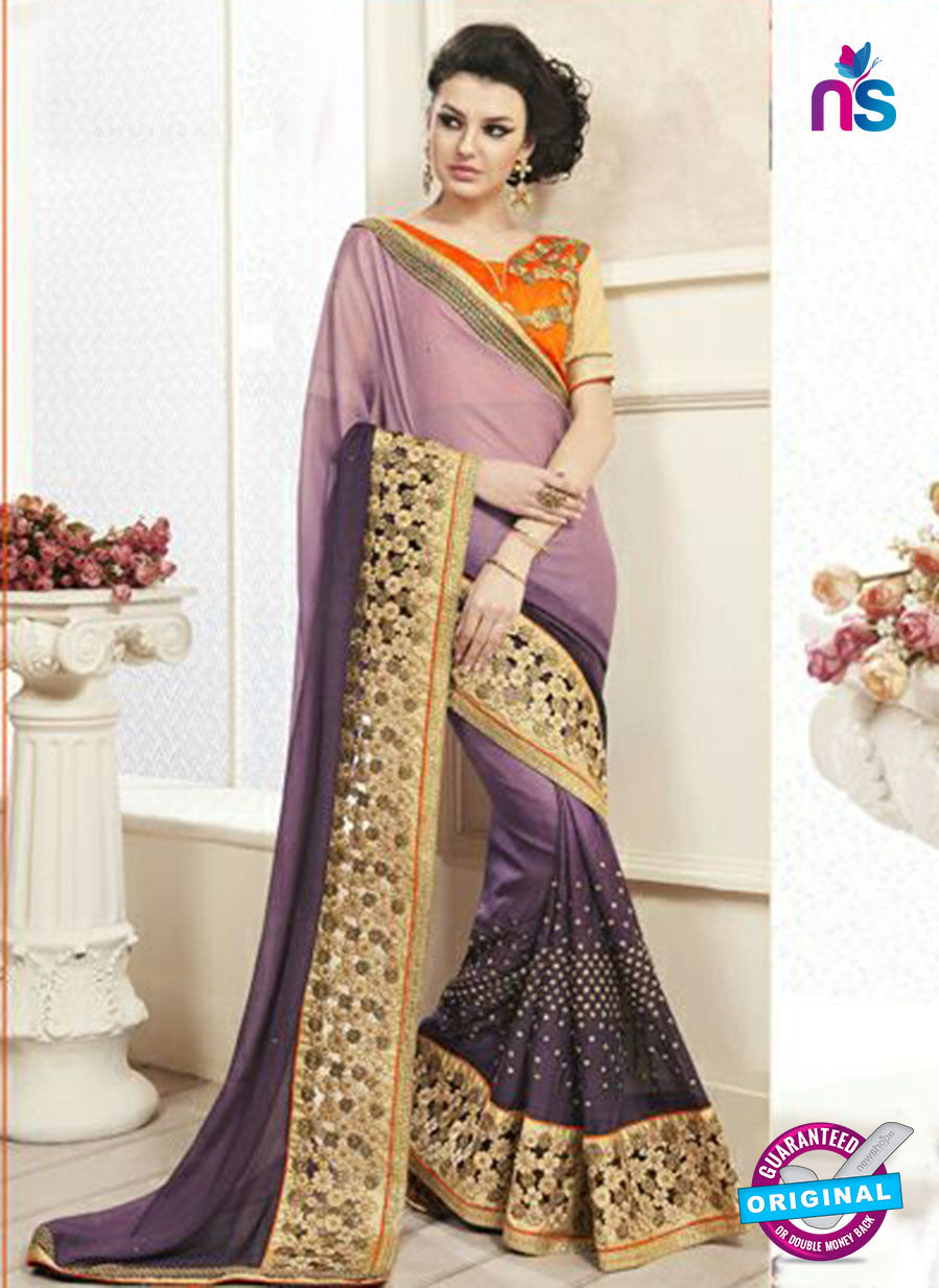 AZ 2157 Purple Georgette Fancy Party Wear Saree