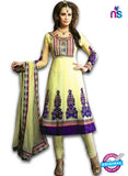 NS12060 Yellow and Purple Anarkali Suit