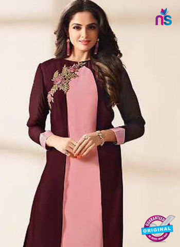 LT 1211 Pink and Brown Indo Western Tunic