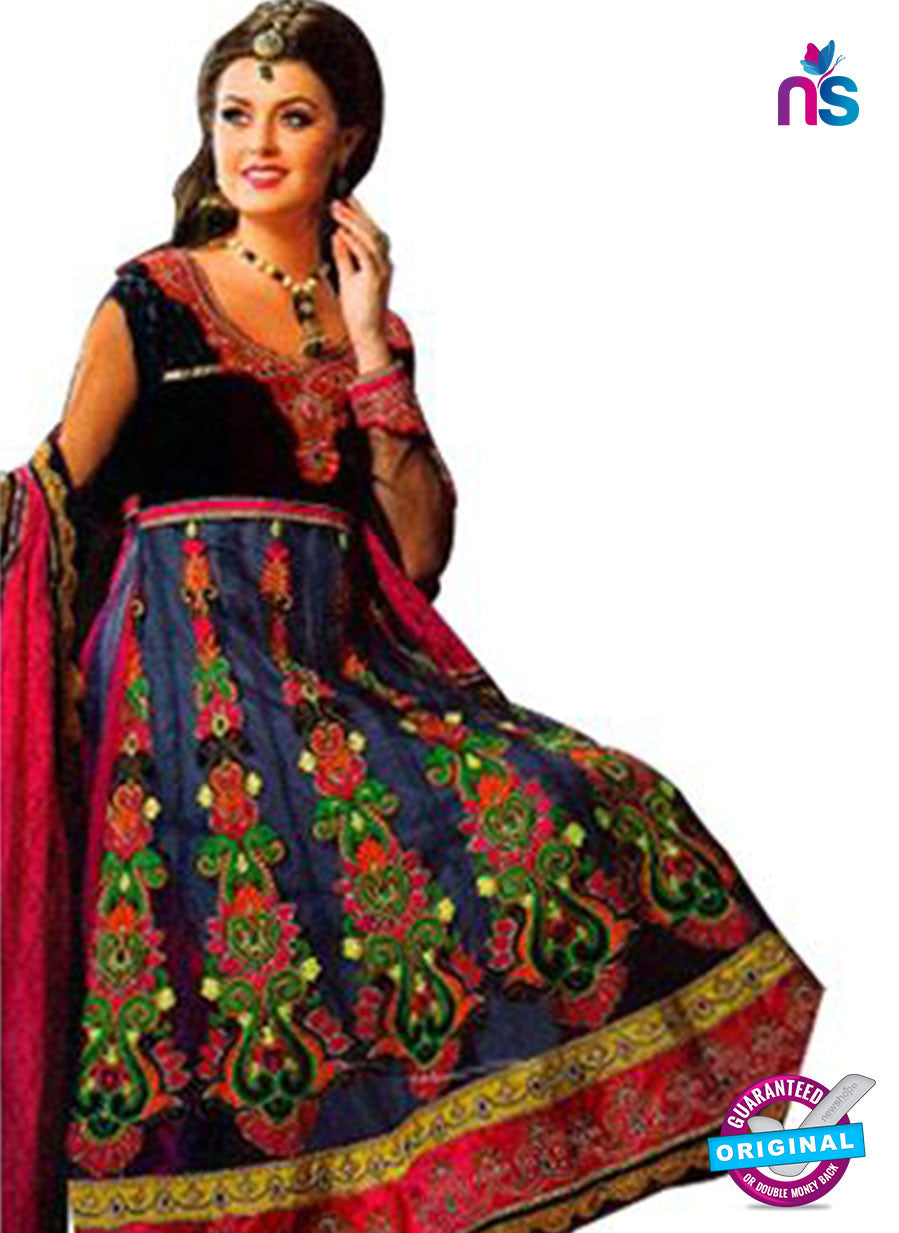 NS12061 Blue and Multicolor Anarkali Suit