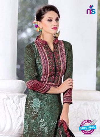 SC 14023 Green and Brown Exclusive Fancy Functional Wear Straight Plazo Suit Online