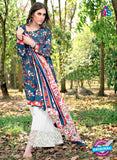 SC 12979 Blue, Pink and White Camric Cotton Print with Embroidery Party Wear/Daily Wear Pakistani