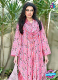 SC 12975 Pink and White Camric Cotton Print Pakistani Suit