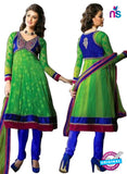 NS12064 Green and Blue Anarkali Suit