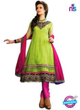 NS12065 Green and Pink Anarkali Suit