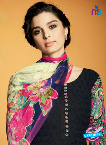 Kimora 121 Black Cotton Satin Fancy Designer Plazo Suit Online