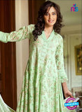 SC 12385  Green Printed Cambric Cotton Suit