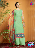 Kimora 122 Green Cotton Satin Fancy Designer Plazo Suit