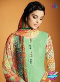Kimora 122 Green Cotton Satin Fancy Designer Plazo Suit Online