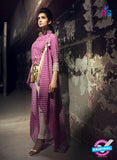 SC 13734 Magenta Glace Cotton Designer Fancy Exclusive Un-stitched Pakistani Straight Salwar Suit