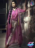 SC 13734 Magenta Glace Cotton Designer Fancy Exclusive Un-stitched Pakistani Straight Salwar Suit Online