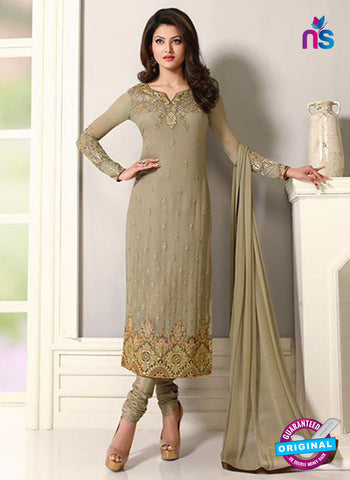 Zubeda 12401 Beige Embroidered Georgette Party Wear Suit