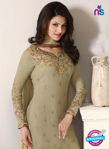Zubeda 12401 Beige Embroidered Georgette Party Wear Suit Online