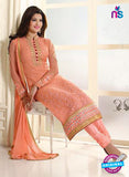 AZ 2297 Peach Embroidered Georgette Party Wear Suit