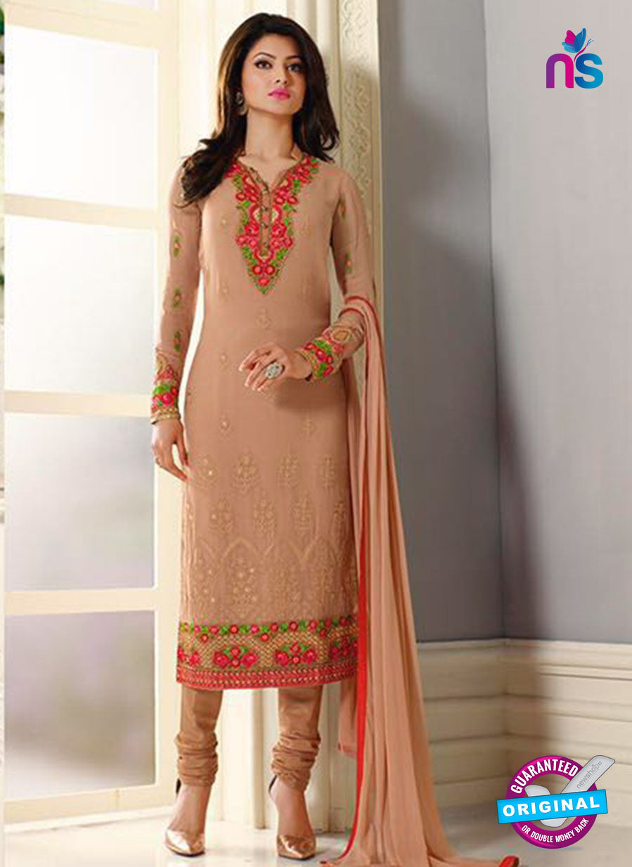AZ 2299 Beige Embroidered Georgette Party Wear Suit