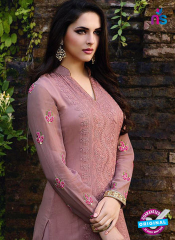 Zubeda 12405 Purple Embroidered Georgette Party Wear Suit Online