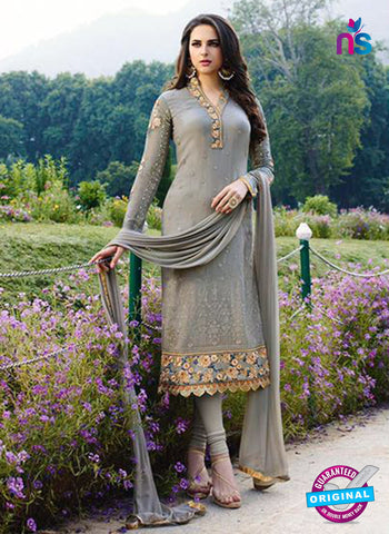 AZ 2301 Grey Embroidered Georgette Party Wear Suit