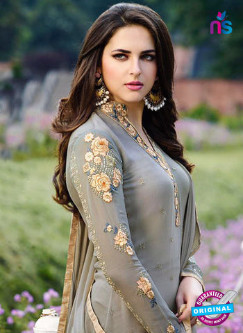 Zubeda 12406 Grey Embroidered Georgette Party Wear Suit Online