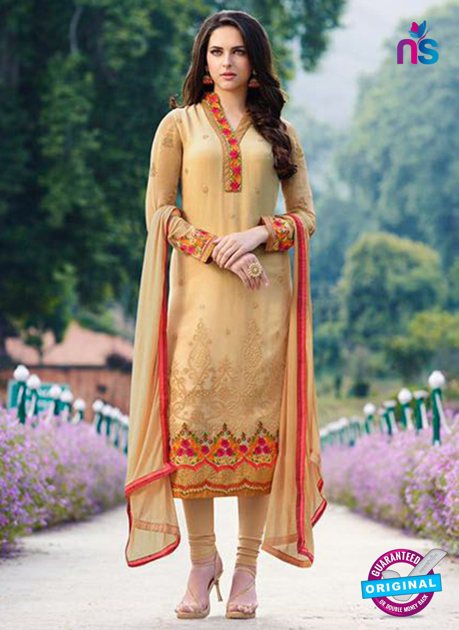 AZ 23012 Orange Embroidered Georgette Party Wear Suit