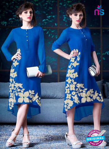 Titli 124 Blue Indo Western Tunic