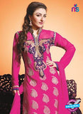 NS10449 Pink Color Georgette Straight Suit Online