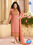 Zubeda 12601 Peach Georgette Party Wear Suit