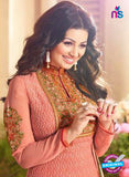 Zubeda 12601 Peach Georgette Party Wear Suit Online