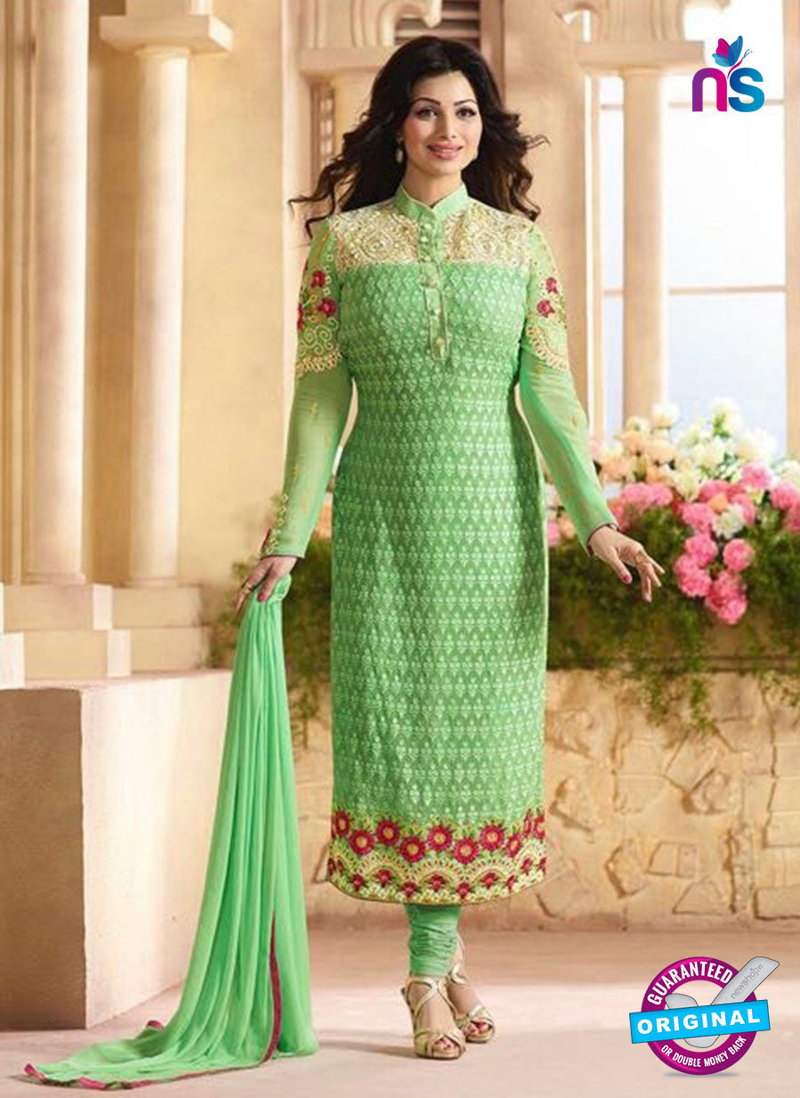 AZ 3451 Green Georgette Party Wear Suit