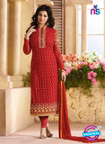 Zubeda 12604 Red Georgette Party Wear Suit