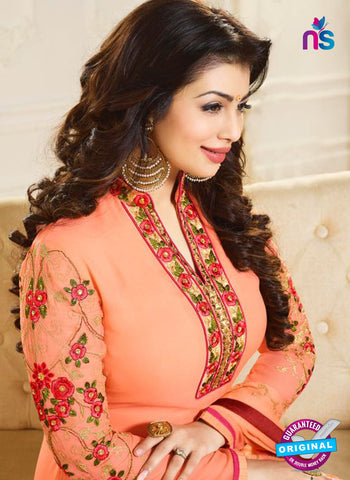 Zubeda 12706 Peach Georgette Party Wear Suit Online
